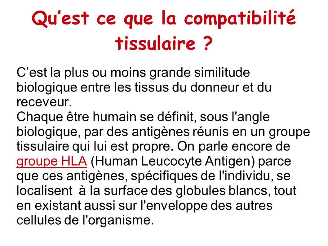 Qu'est ce que la compatibilité tissulaire