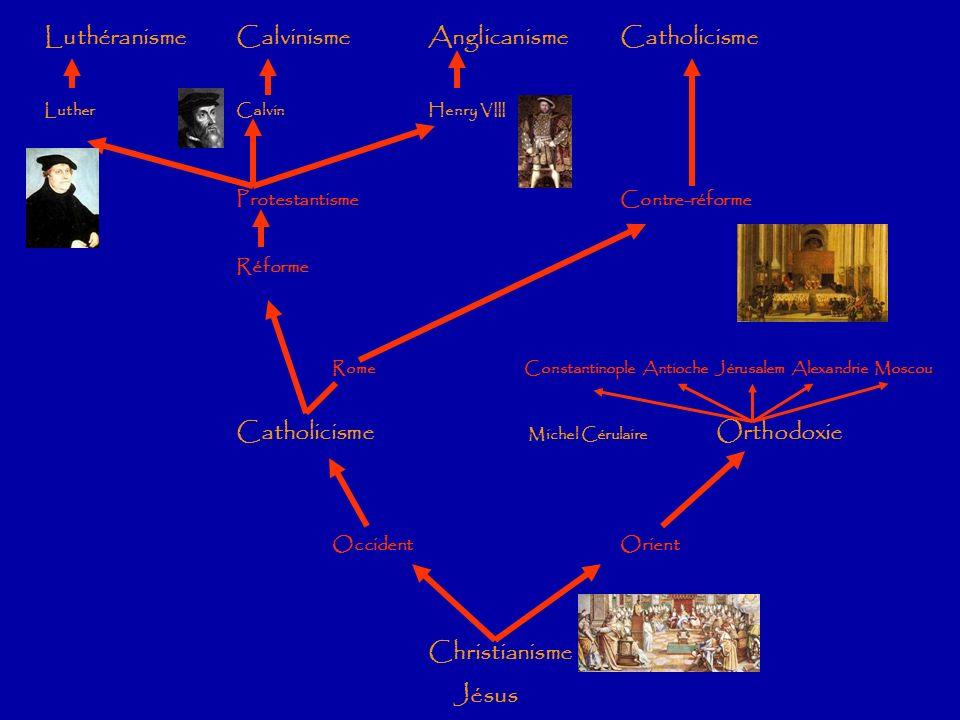 Luthéranisme Calvinisme Anglicanisme Catholicisme