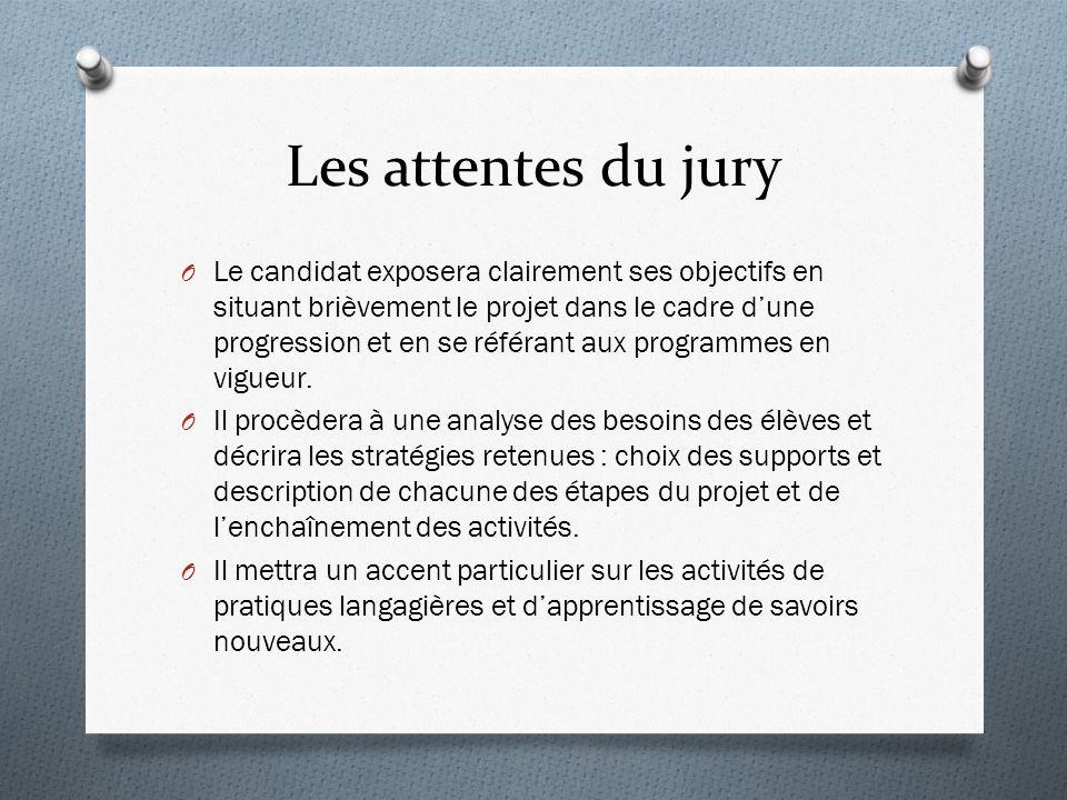 Les attentes du jury