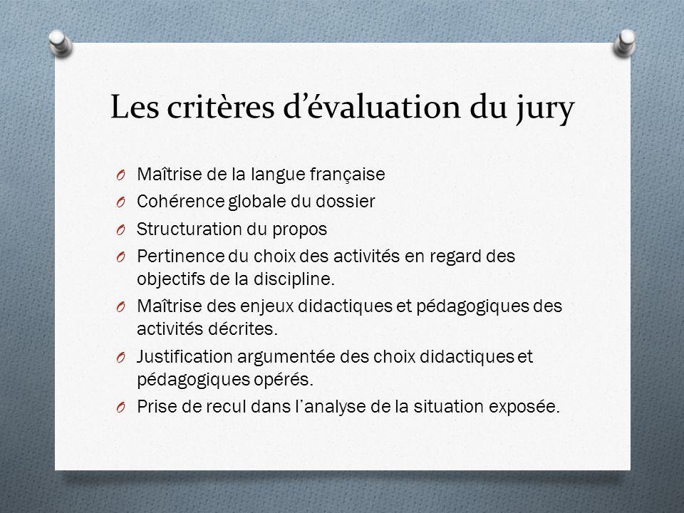 Les critères d'évaluation du jury