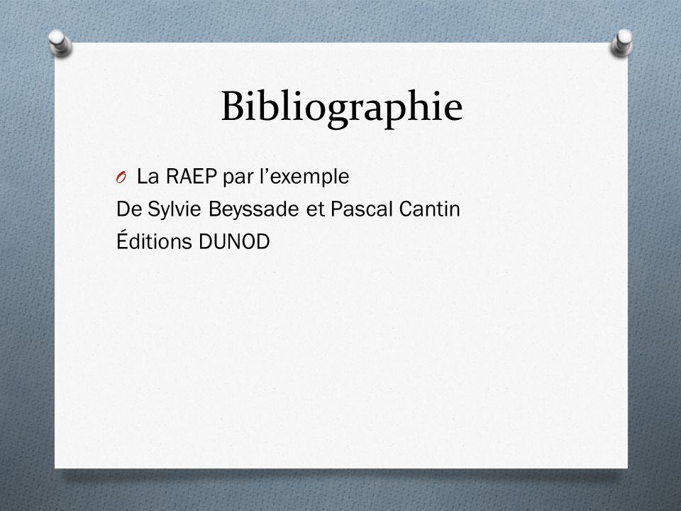 Bibliographie La RAEP par l'exemple