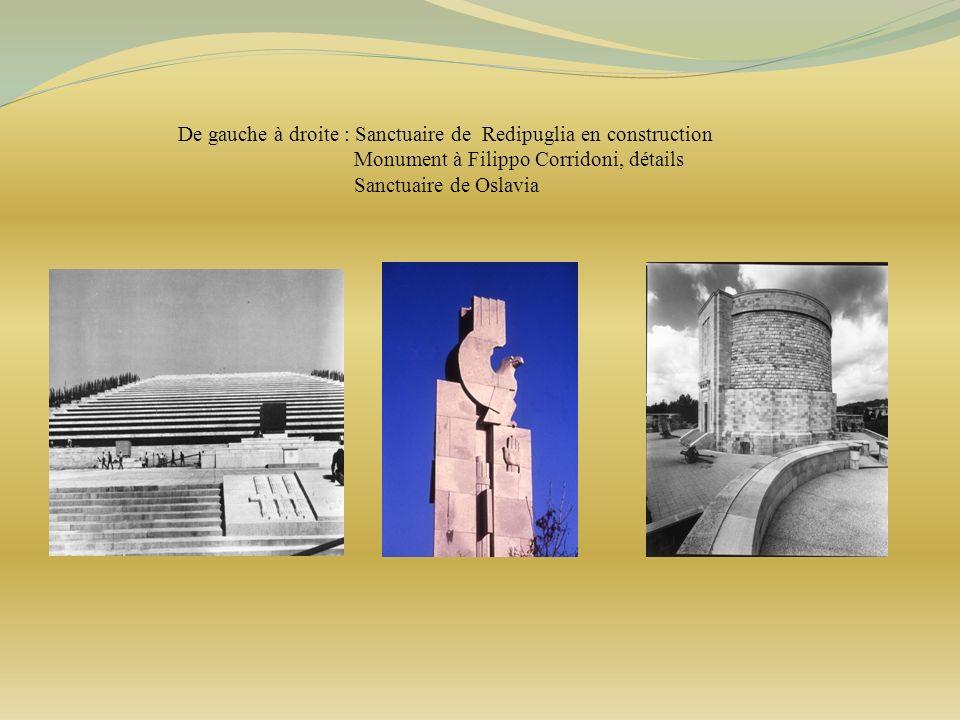 De gauche à droite : Sanctuaire de Redipuglia en construction