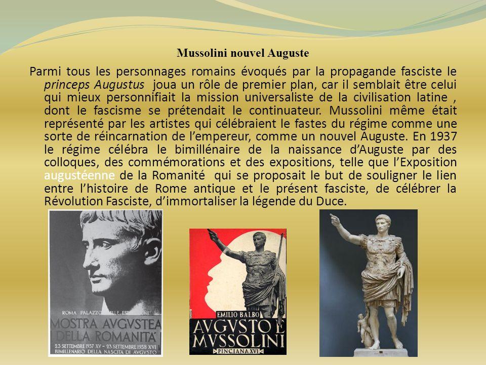 Mussolini nouvel Auguste