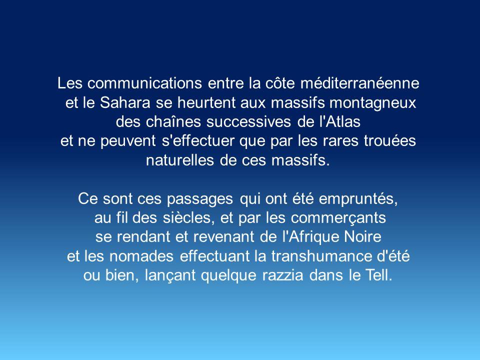 Les communications entre la côte méditerranéenne