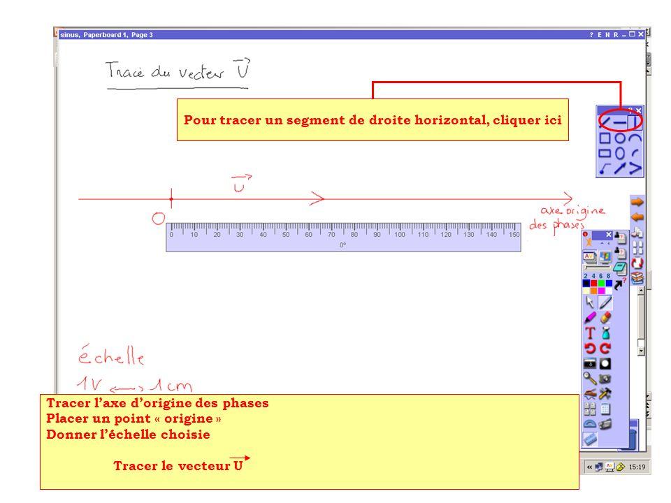 Pour tracer un segment de droite horizontal, cliquer ici