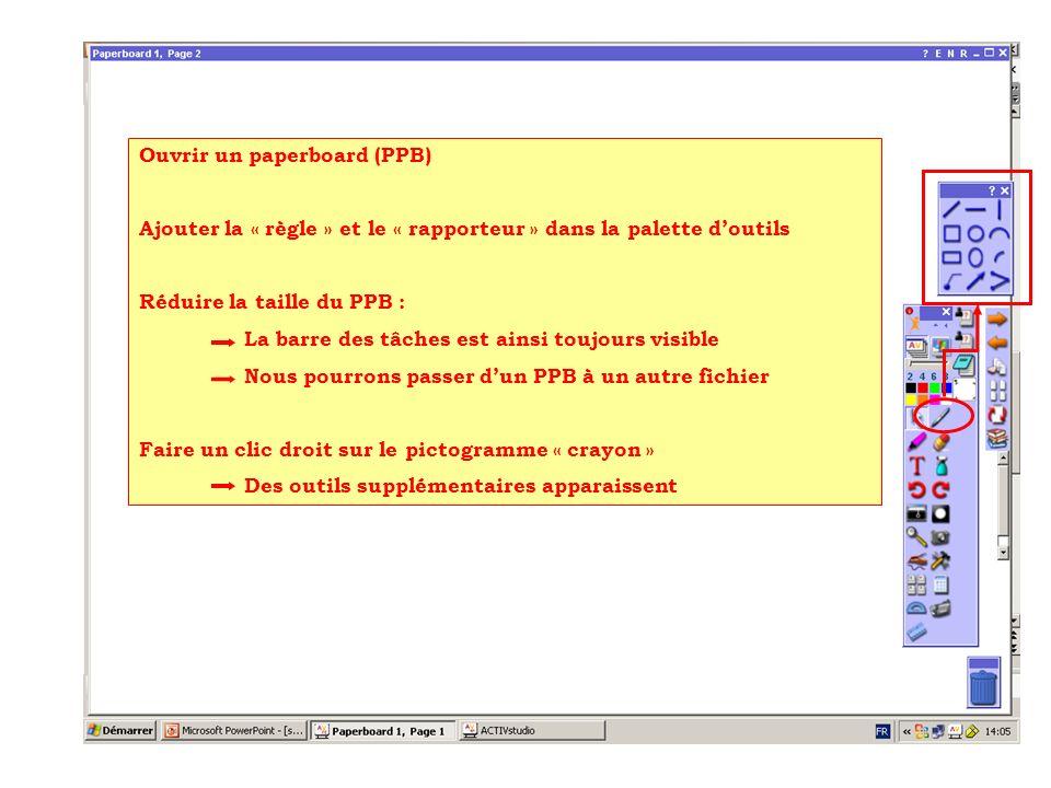 Ouvrir un paperboard (PPB)