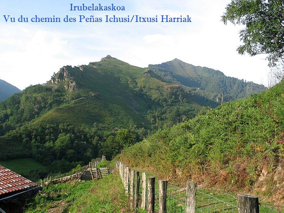 Vu du chemin des Peñas Ichusi/Itxusi Harriak