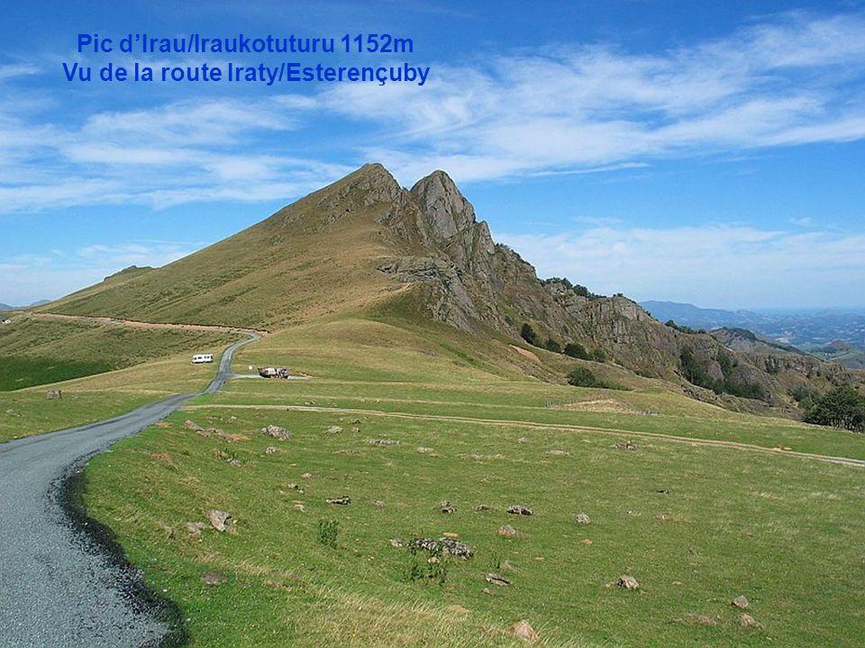 Pic d'Irau/Iraukotuturu 1152m Vu de la route Iraty/Esterençuby