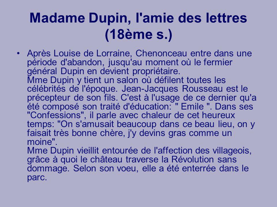 Madame Dupin, l amie des lettres (18ème s.)
