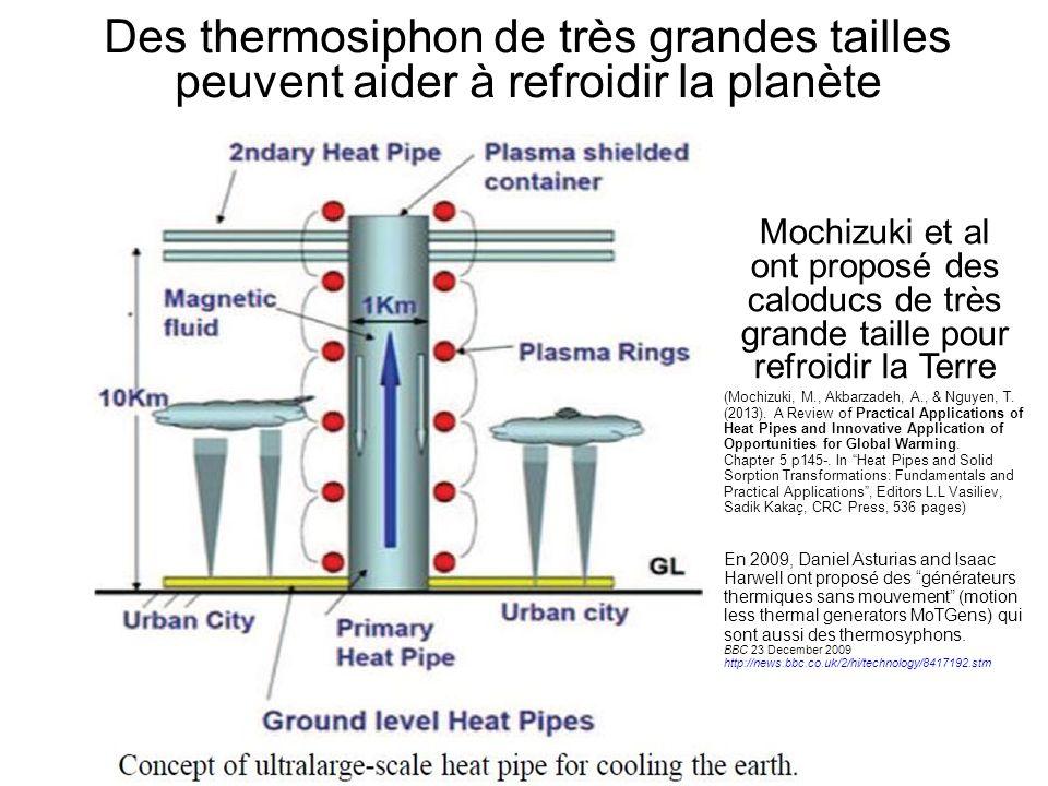 Des thermosiphon de très grandes tailles peuvent aider à refroidir la planète