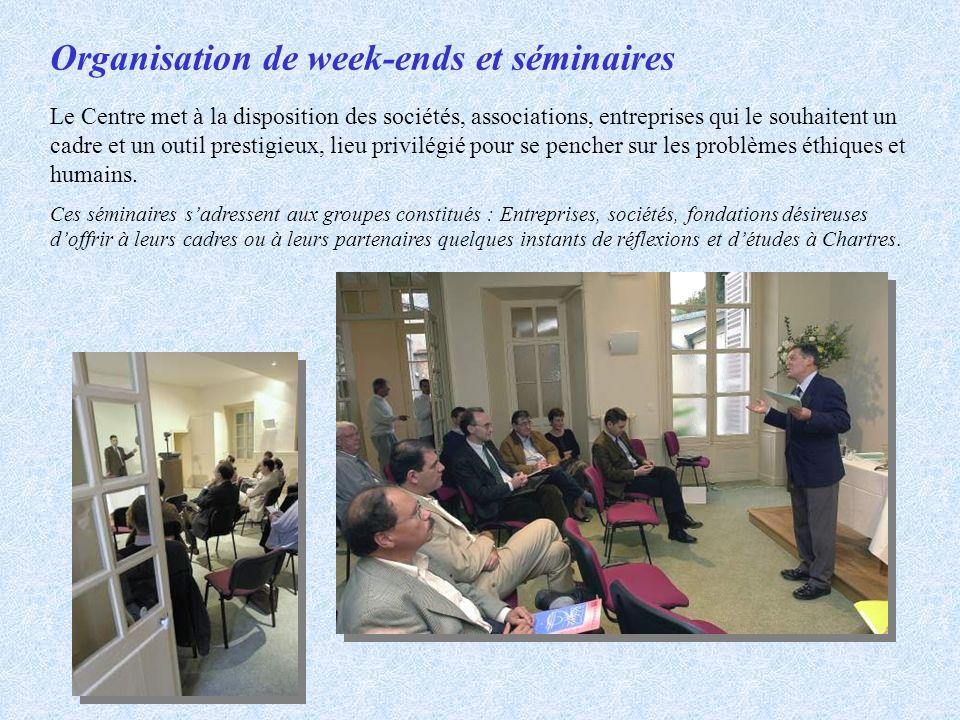 Organisation de week-ends et séminaires