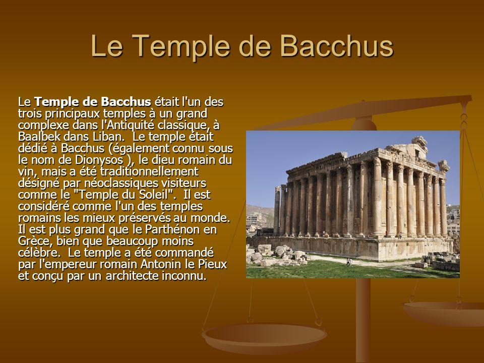 Le Temple de Bacchus