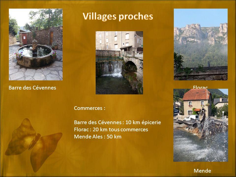Villages proches Barre des Cévennes Florac Florac Commerces :