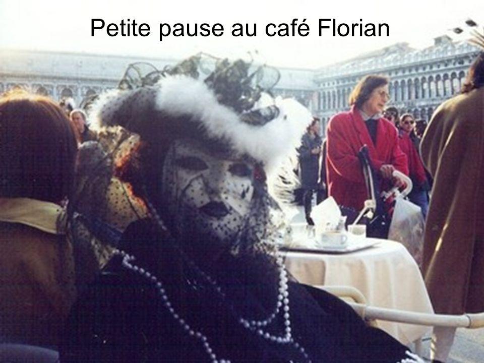 Petite pause au café Florian