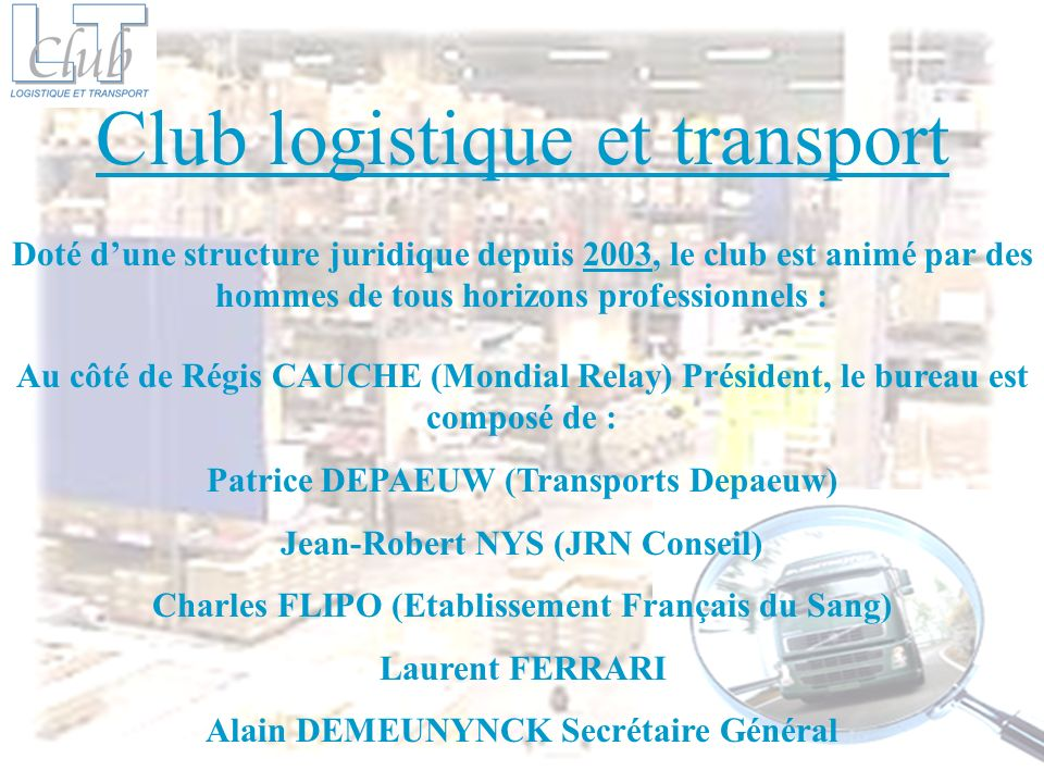 Club logistique et transport