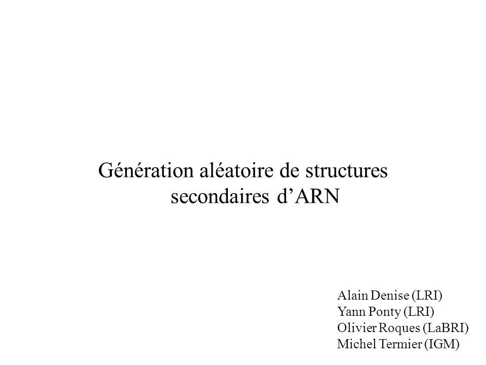 Génération aléatoire de structures secondaires d'ARN