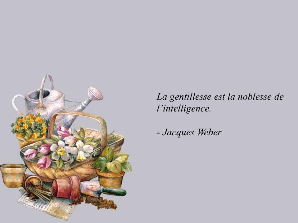 La gentillesse est la noblesse de l'intelligence.