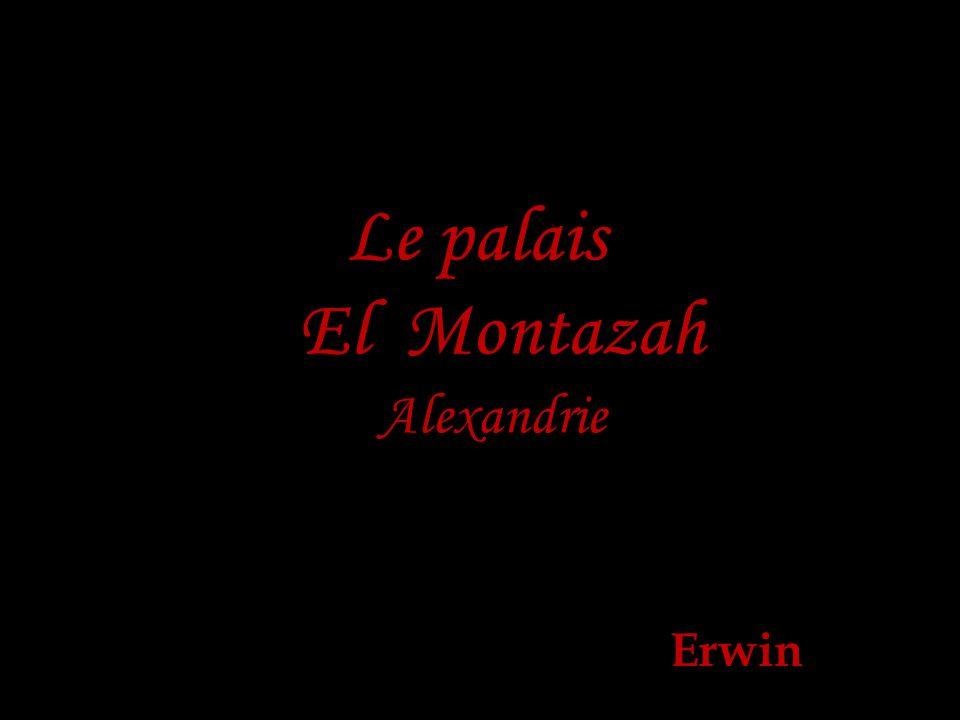 Le palais El Montazah Alexandrie Erwin