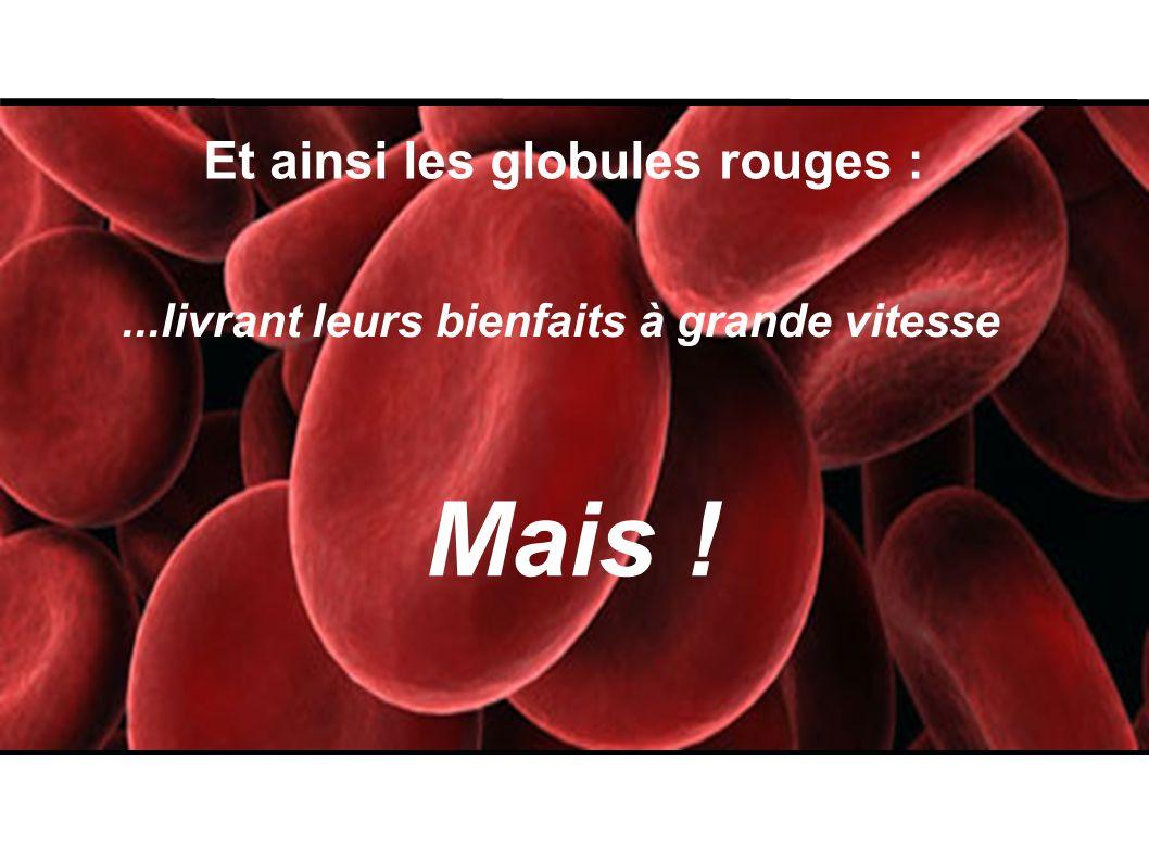 Mais ! Et ainsi les globules rouges :