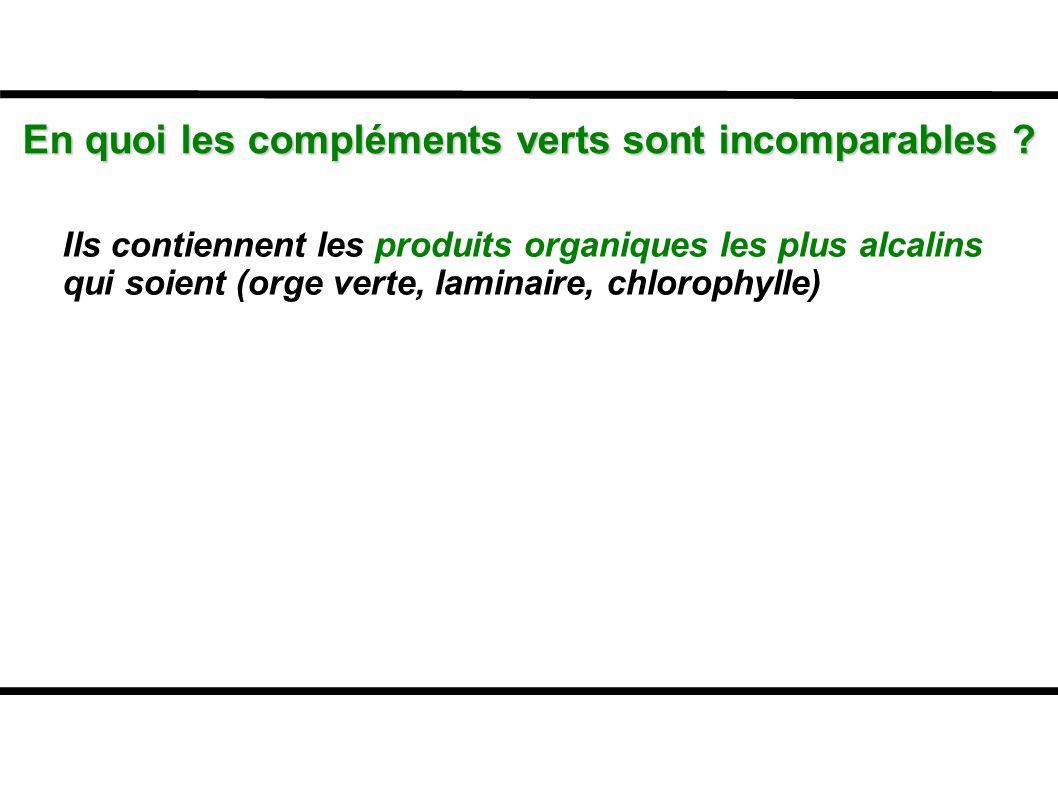 En quoi les compléments verts sont incomparables
