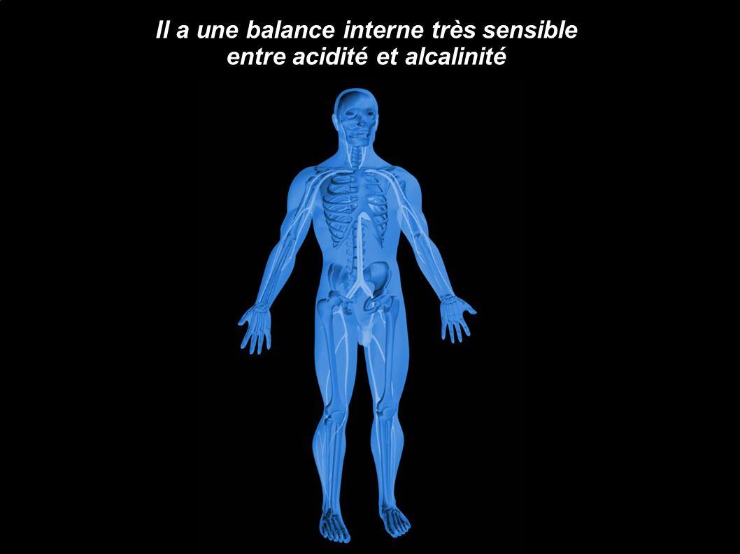 Il a une balance interne très sensible entre acidité et alcalinité