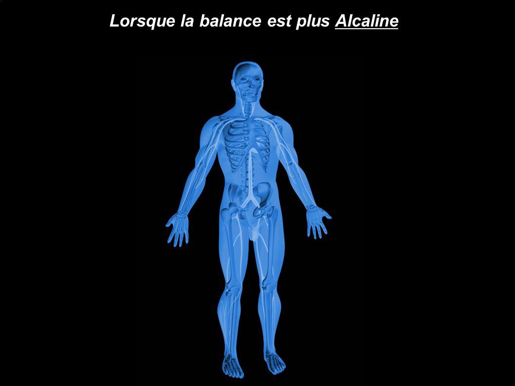 Lorsque la balance est plus Alcaline