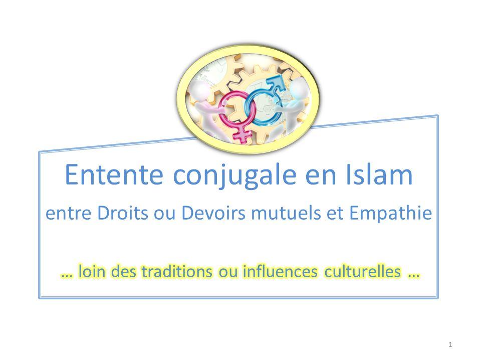 Entente conjugale en Islam