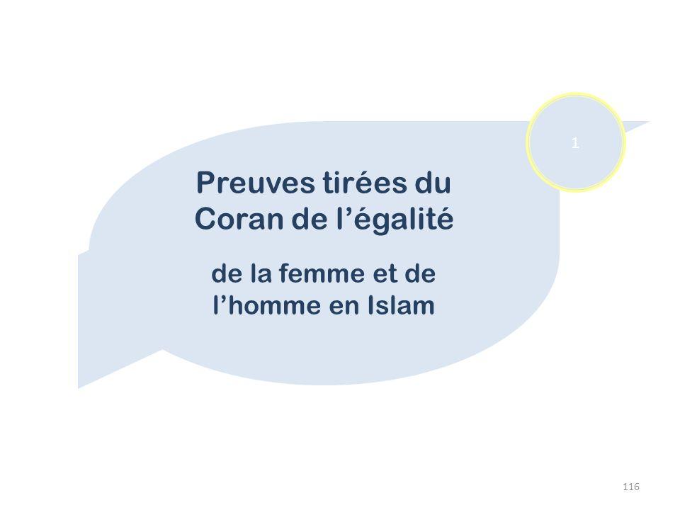 Preuves tirées du Coran de l'égalité