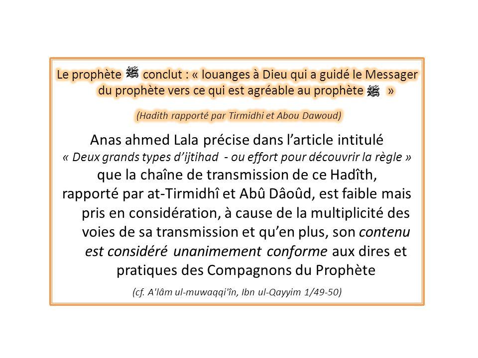 (Hadith rapporté par Tirmidhi et Abou Dawoud)