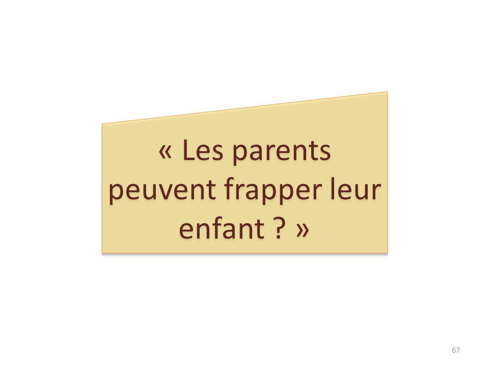 « Les parents peuvent frapper leur enfant »