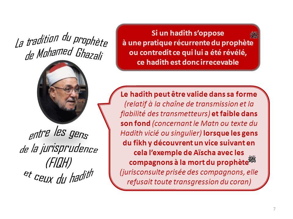 La tradition du prophète de Mohamed Ghazali