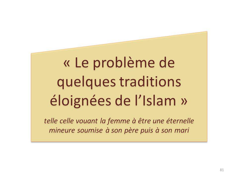 « Le problème de quelques traditions éloignées de l'Islam »