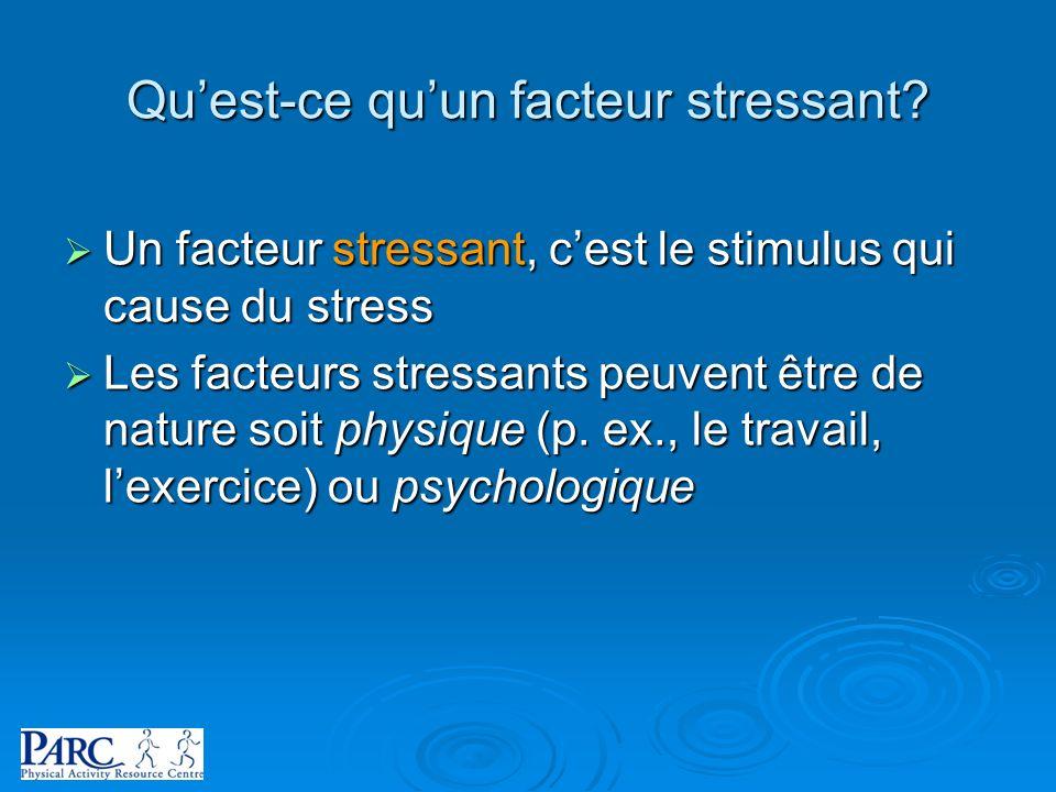 Qu'est-ce qu'un facteur stressant