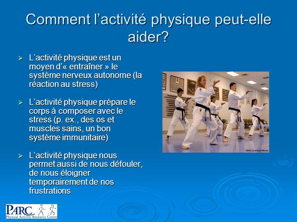 Comment l'activité physique peut-elle aider
