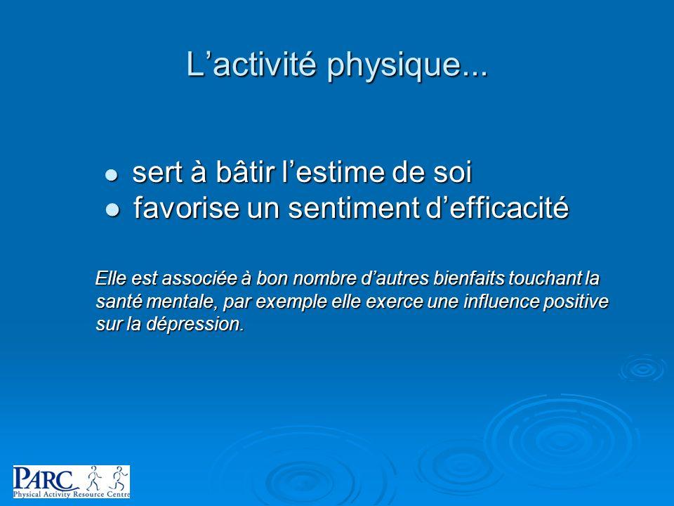 L'activité physique... favorise un sentiment d'efficacité