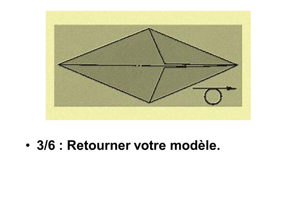 3/6 : Retourner votre modèle.