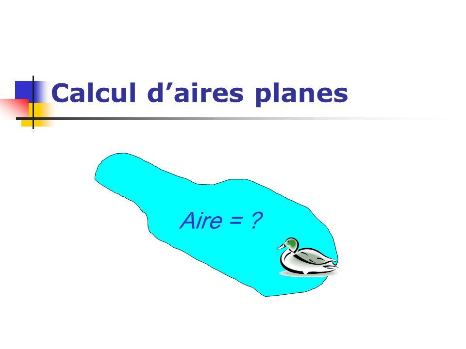 Calcul d'aires planes Aire =
