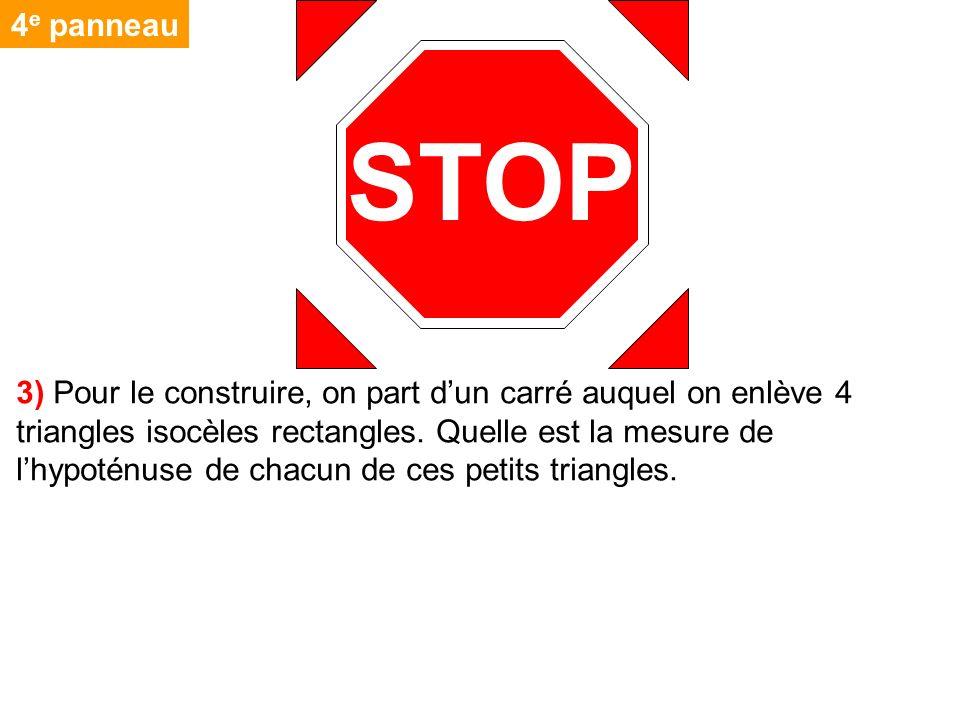 4e panneau STOP.