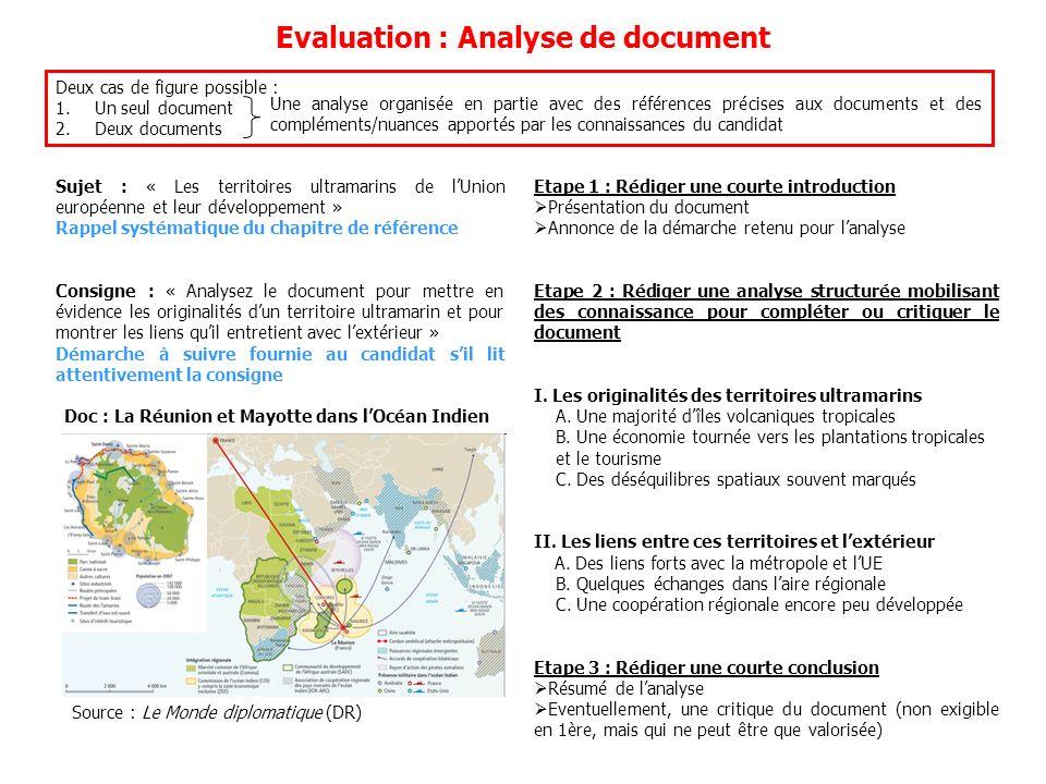 Evaluation : Analyse de document