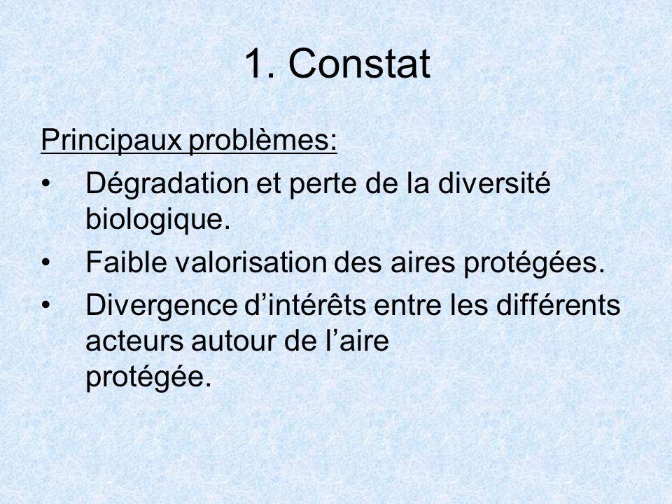 1. Constat Principaux problèmes: