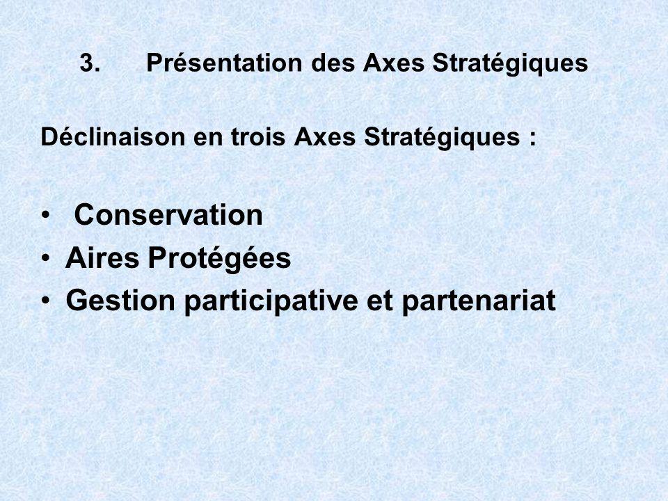 3. Présentation des Axes Stratégiques