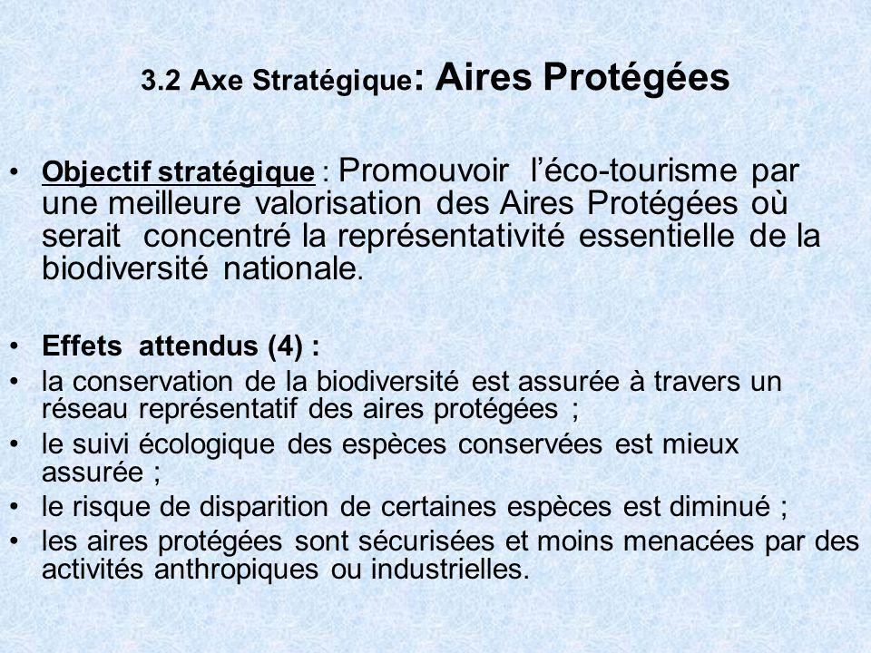 3.2 Axe Stratégique: Aires Protégées