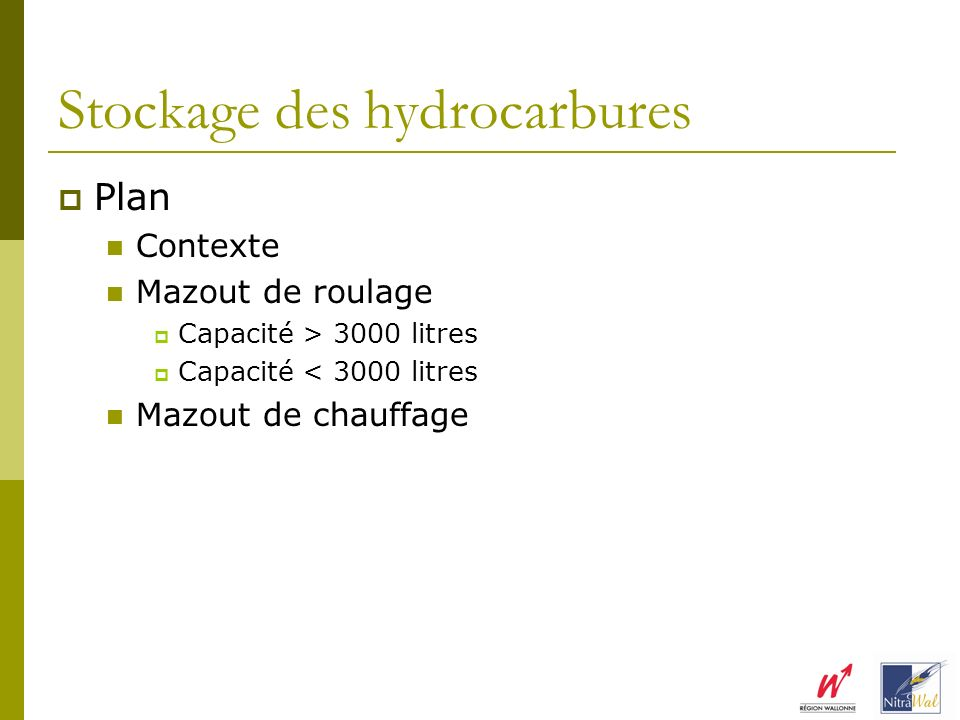 Stockage des hydrocarbures
