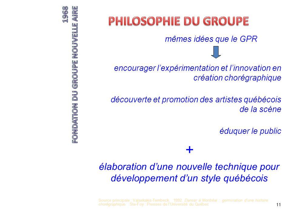 + PHILOSOPHIE DU GROUPE