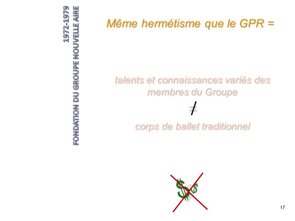 = Même hermétisme que le GPR =