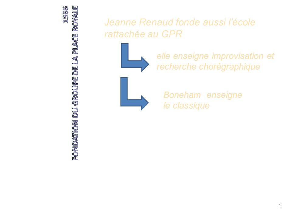Jeanne Renaud fonde aussi l'école rattachée au GPR