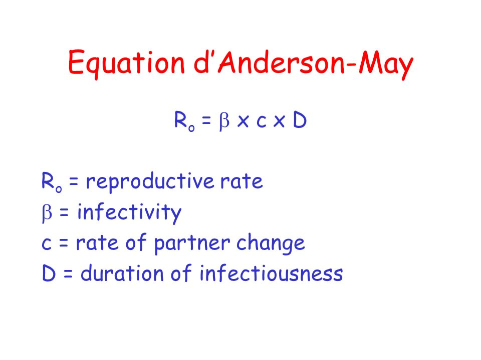 Equation d'Anderson-May