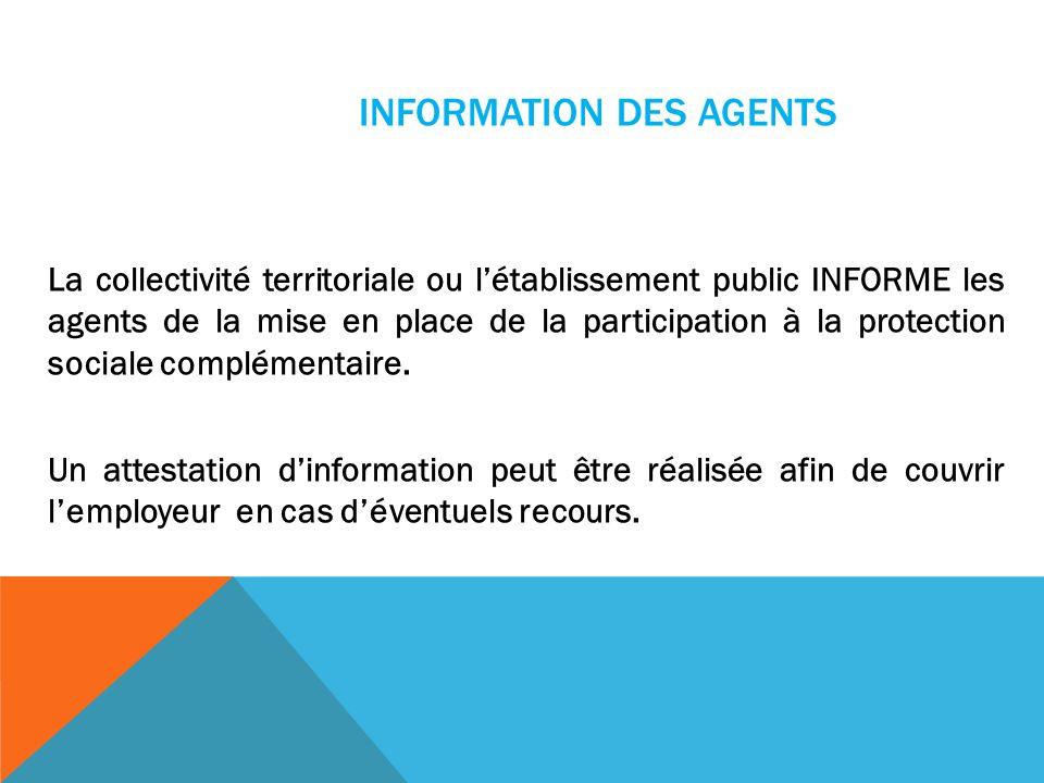 INFORMATION DES AGENTS