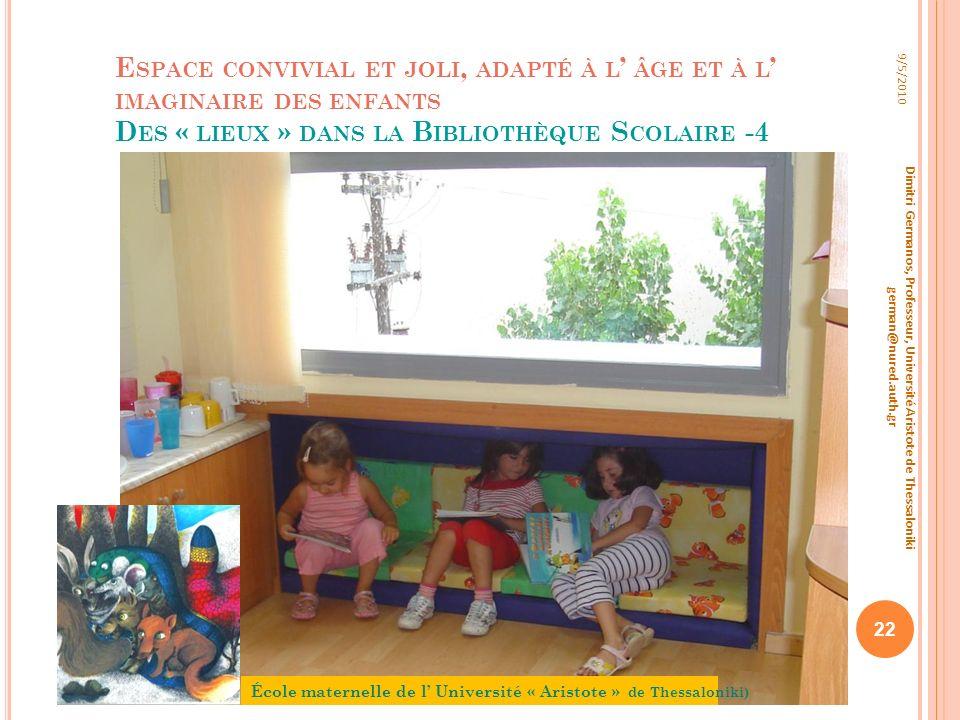 Espace convivial et joli, adapté à l' âge et à l' imaginaire des enfants Des « lieux » dans la Bibliothèque Scolaire -4