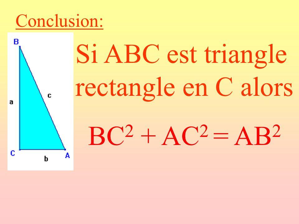 Si ABC est triangle rectangle en C alors